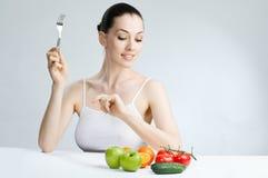 τρώγοντας τα τρόφιμα υγιή Στοκ φωτογραφία με δικαίωμα ελεύθερης χρήσης