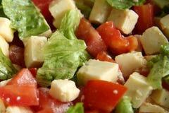 τρώγοντας την υγιή σαλάτα &mu Στοκ Φωτογραφία