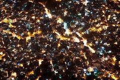 Τρώγλη Rocinha στο Ρίο ντε Τζανέιρο τη νύχτα στοκ εικόνες