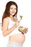 τρώει έγκυο στοκ εικόνες
