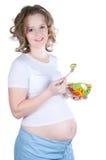 τρώει έγκυο στοκ φωτογραφία