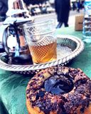 Τσάι από το Μαρόκο rabat στοκ φωτογραφία