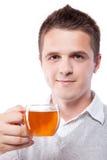 τσάι ατόμων φλυτζανιών στοκ εικόνα