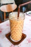 Τσάι γάλακτος ή παγωμένο τσάι Στοκ Εικόνες