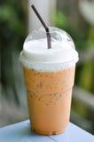 Τσάι γάλακτος, παγωμένο τσάι με το γάλα, παγωμένο τσάι Στοκ εικόνες με δικαίωμα ελεύθερης χρήσης
