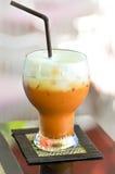 Τσάι γάλακτος, ταϊλανδικό τσάι, παγωμένο τσάι Στοκ Φωτογραφίες