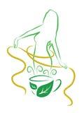 Τσάι για την απώλεια βάρους διανυσματική απεικόνιση