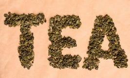 Τσάι επιγραφής Στοκ Εικόνα
