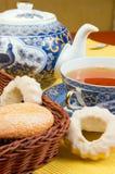 τσάι κέικ στοκ φωτογραφίες
