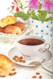 τσάι κέικ Στοκ εικόνα με δικαίωμα ελεύθερης χρήσης