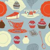 Τσάι και κέικ. Στοκ Φωτογραφίες