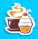 Τσάι και κέικ Στοκ Εικόνα