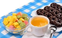 Τσάι και μπισκότα Στοκ φωτογραφίες με δικαίωμα ελεύθερης χρήσης