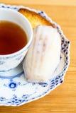 Τσάι και μπισκότα Στοκ Φωτογραφίες