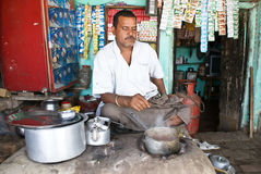 τσάι καταστημάτων της Ινδία& Στοκ Φωτογραφίες