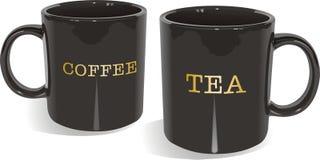 τσάι κουπών καφέ διανυσματική απεικόνιση
