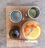Τσάι λεμονιών ή παγωμένο τσάι Στοκ Φωτογραφία