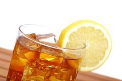 τσάι λεμονιών πάγου γυαλ&i στοκ φωτογραφία