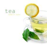 τσάι λεμονιών φλυτζανιών στοκ εικόνα