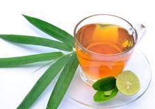 τσάι λεμονιών φύλλων μπαμπού Στοκ φωτογραφία με δικαίωμα ελεύθερης χρήσης