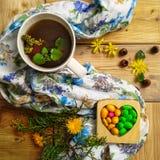 Τσάι μεντών teatime Στοκ Εικόνα