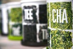 τσάι μετάλλων κιβωτίων Στοκ φωτογραφίες με δικαίωμα ελεύθερης χρήσης