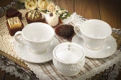 Τσάι με τα μπισκότα Στοκ Φωτογραφία