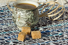 Τσάι με τη ζάχαρη για το πρόγευμα Στοκ Εικόνες