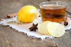Τσάι με το λεμόνι Στοκ Εικόνα
