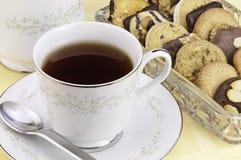τσάι μπισκότων στοκ εικόνα με δικαίωμα ελεύθερης χρήσης