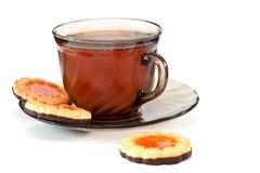 τσάι μπισκότων στοκ εικόνα
