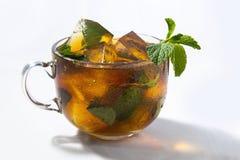 Τσάι πάγου με τη μέντα στοκ φωτογραφία