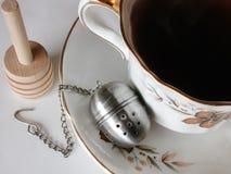 τσάι πιατακιών φλυτζανιών στοκ εικόνες