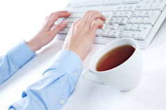 τσάι πληκτρολογίων στοκ εικόνες