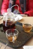 Τσάι που κάνει καθορισμένο Στοκ Φωτογραφία