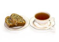 Τσάι που τίθεται με ένα cupcake Στοκ εικόνες με δικαίωμα ελεύθερης χρήσης