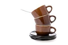 Τσάι που τίθεται πέρα από το λευκό Στοκ Εικόνες