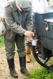 Τσάι πρωινού στο γερμανικό στρατιωτικό στρατόπεδο στρατού Στοκ εικόνα με δικαίωμα ελεύθερης χρήσης