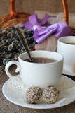 τσάι σε ένα άσπρο φλυτζάνι Στοκ Φωτογραφία