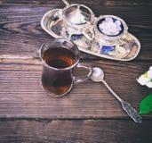 Τσάι σε ένα τουρκικό γυαλί γυαλιού Στοκ Εικόνα