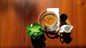 τσάι στοιχείων σχεδίου καφέ στοκ εικόνες με δικαίωμα ελεύθερης χρήσης