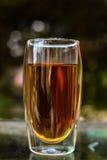 Τσάι στο διπλό περιτοιχισμένο γυαλί τσαγιού Στοκ Εικόνες