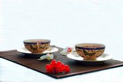 Τσάι στο μπαμπού Στοκ εικόνες με δικαίωμα ελεύθερης χρήσης