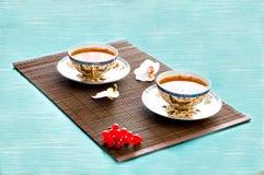 Τσάι στο μπαμπού Στοκ φωτογραφία με δικαίωμα ελεύθερης χρήσης
