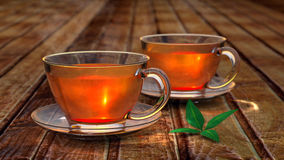 Τσάι στο φλυτζάνι γυαλιού Στοκ Εικόνα