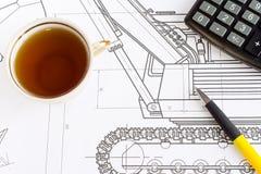 τσάι σχεδίων Στοκ Εικόνα