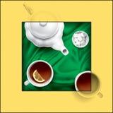 τσάι σύνθεσης Απεικόνιση αποθεμάτων