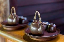 Τσάι-σύνολο ασιατικό teahouse Στοκ φωτογραφία με δικαίωμα ελεύθερης χρήσης