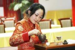 τσάι της Κίνας τέχνης Στοκ εικόνα με δικαίωμα ελεύθερης χρήσης