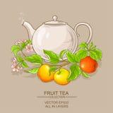 Τσάι της Apple teapot απεικόνιση αποθεμάτων